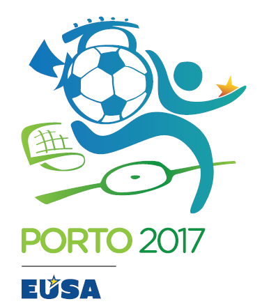 European Universities Football Championship EUSA 2017 Porto Portugal Logo