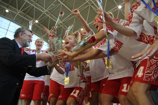 Women's winning team: Russian State Agricultural University (RUS)