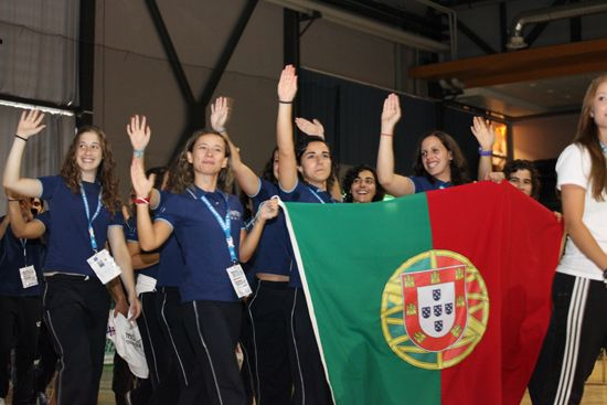 March pass of the athletes