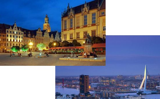 EUG 2014 bidding cities: Wroclaw (POL) and Rotterdam (NED)