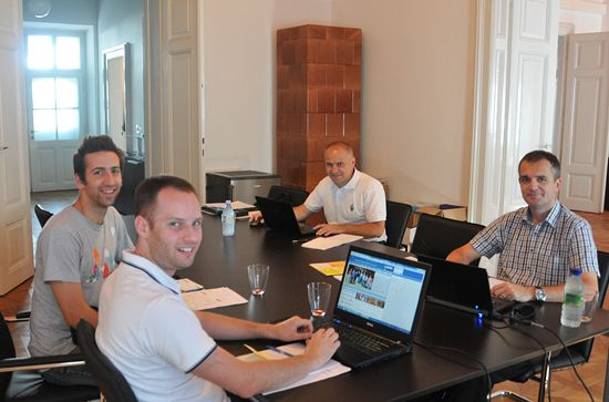 Sports working meeting at EUSA Office