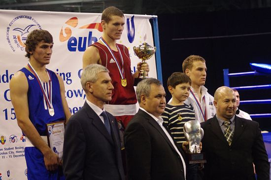 Award ceremony, with Mr Matytsin and other guests of honour