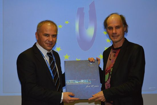 EUSA President with the Rector of University of Primorska prof. dr. Dragan Marusic