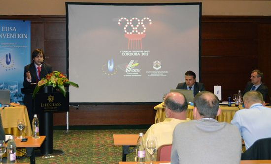 Presentation of the 1st European Universities Games Cordoba 2012 by Mr Chabouk