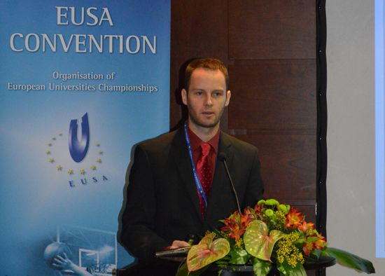 Registrations and Accreditations system and procedure explained by EUSA Communications Manager Mr Andrej Pisl