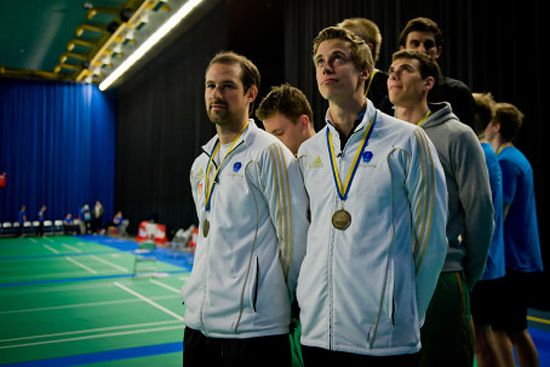 Men's doubles medallists