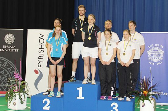 Medallists mixed doubles