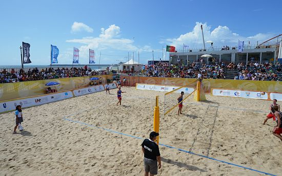 Matches at the EUC Beach Volleyball 2013