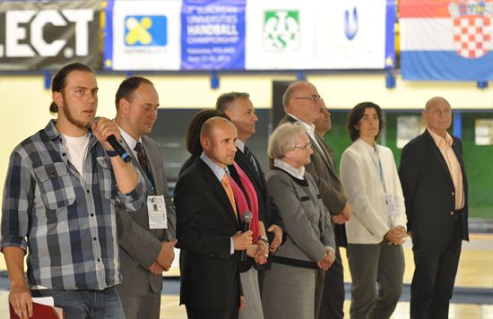 Officials and VIPs at the closing ceremony