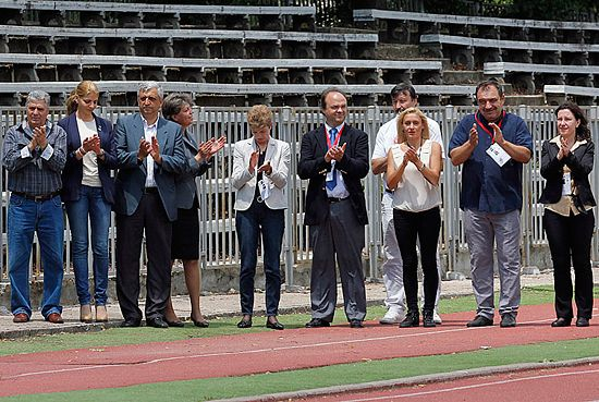 Officials at the opening ceremony