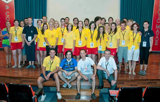 EUSA Volunteers at the 1st European Universities Games in Cordoba 2012