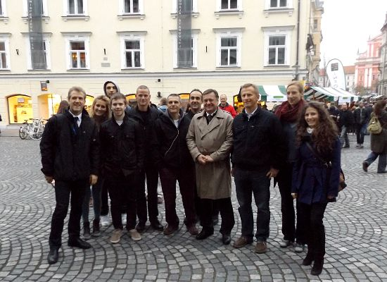 City tour with the Mayor of Ljubljana Mr Zoran Jankovic