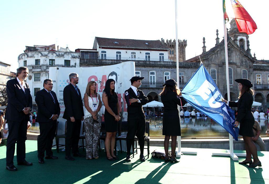 Raising of the EUSA flag