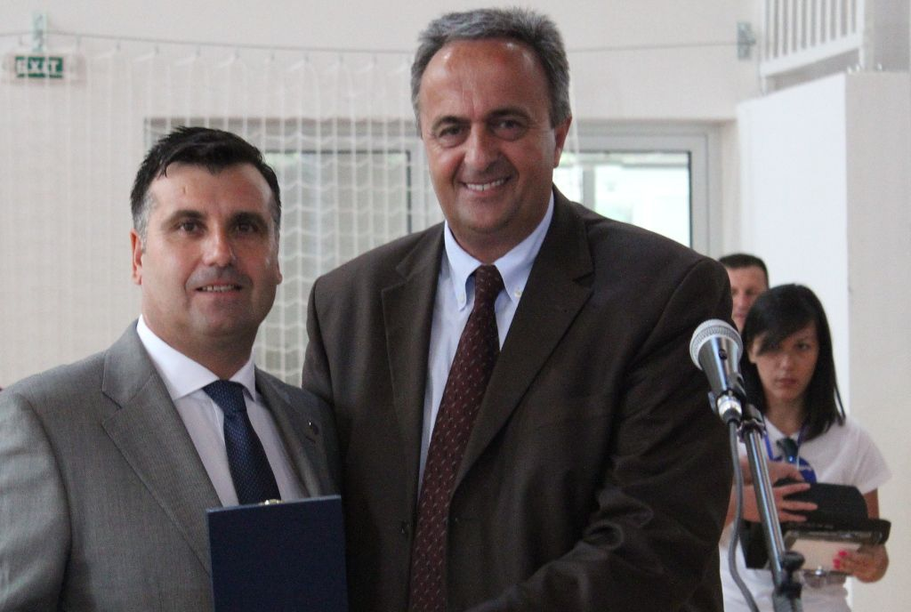 EUSA representative Mr Santos and the Mayor of Zabljak Mr Vukicevic