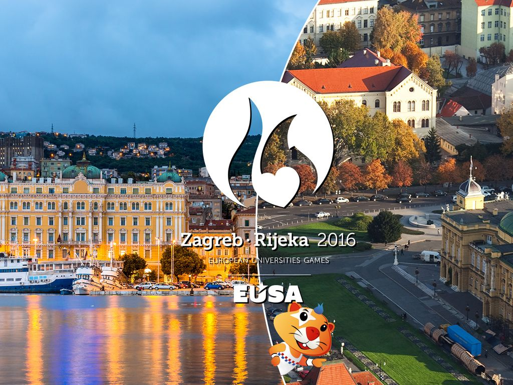 Zagreb and Rijeka - host cities of the European Universities Games 2016