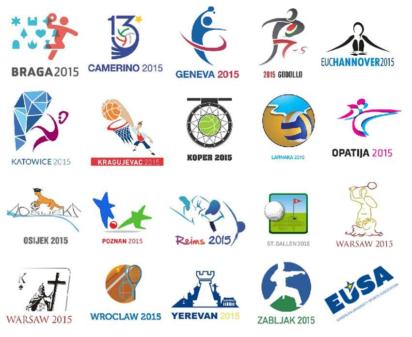 Logos of the European Universities Championships 2015