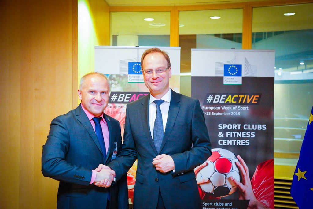 EUSA President Roczek with European Commissioner Navracsics