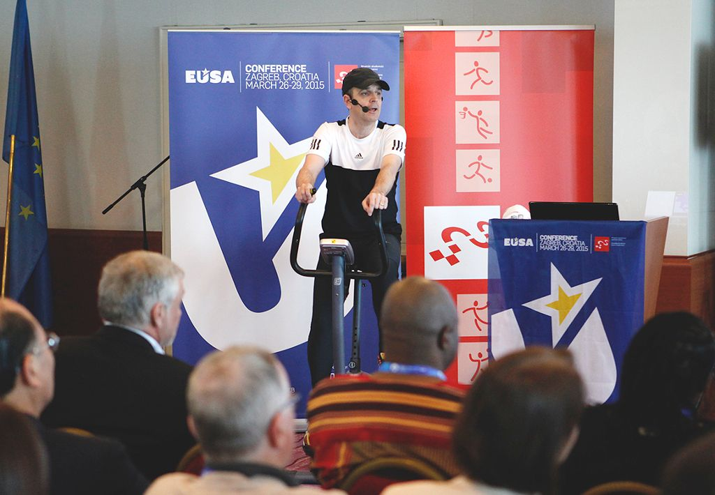 Promotion of European Week of Sport at EUSA Conference