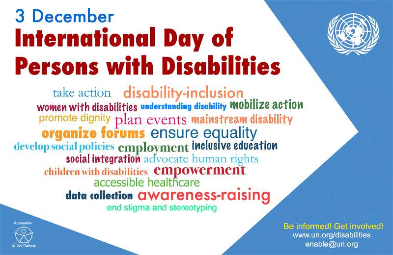 Poster for the International Day of Persons with Disabilities