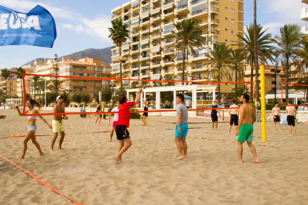 Participants enjoying also beach volleyball friendly matches