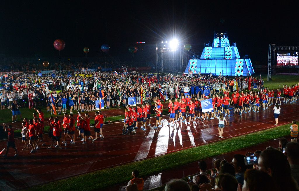 From the Opening of the European Universities Games Zagreb-Rijeka 2016
