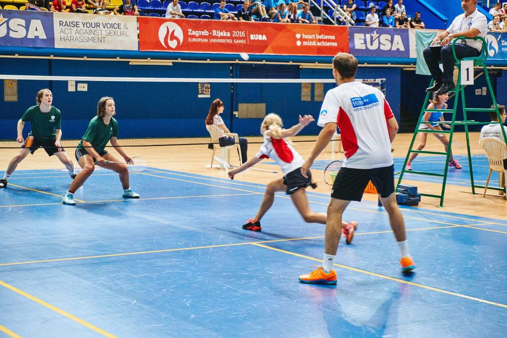 Badminton at EUSA sports events