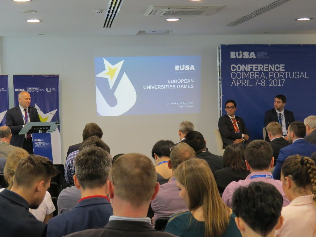 EUSA and the European Universities Games introcution by Mr Roczek