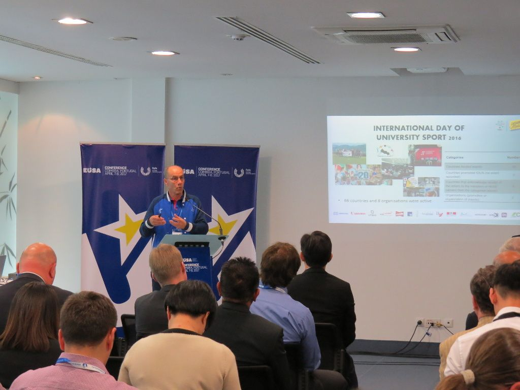 FISU presentation of IDUS by Mr Leonz Eder