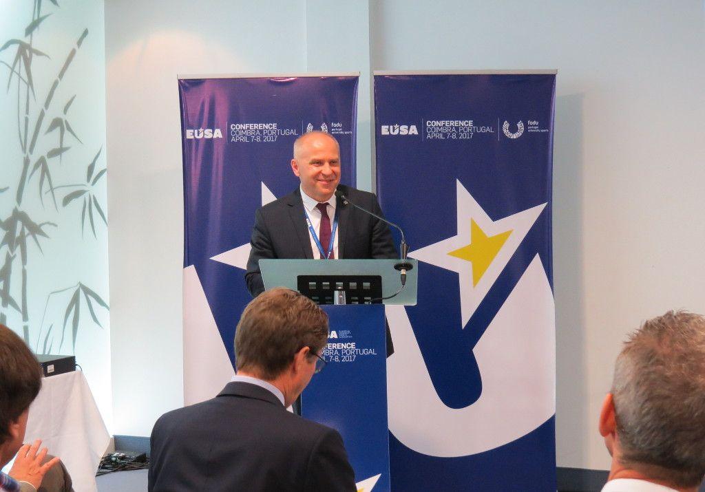EUSA President Mr Adam Roczek