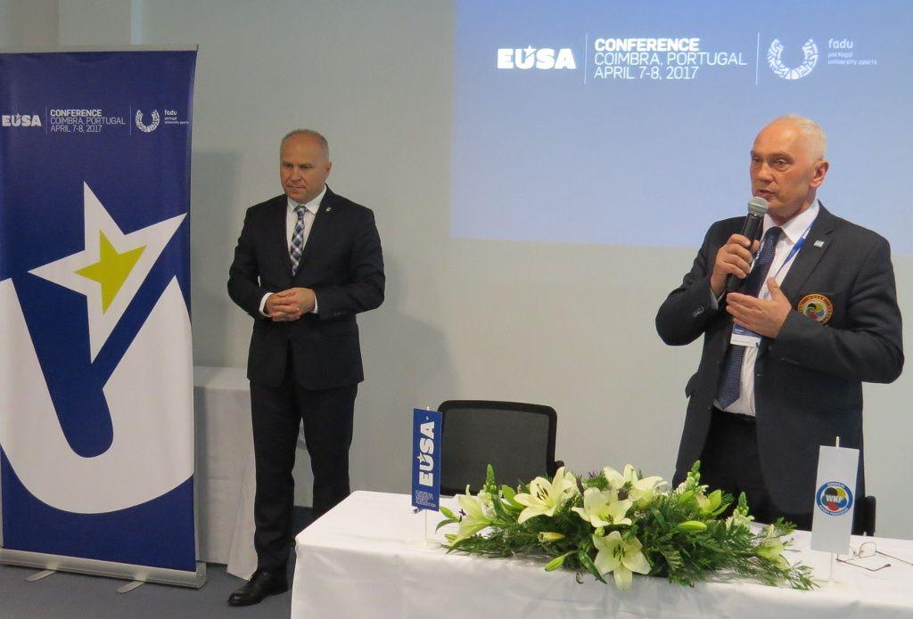 EKF Secretary General Mr Celan addressing the audience
