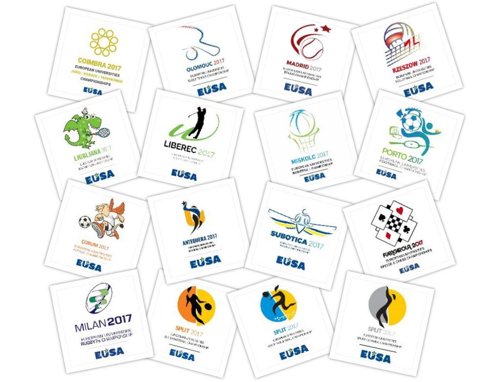 Logos of the European Universities Championships 2017