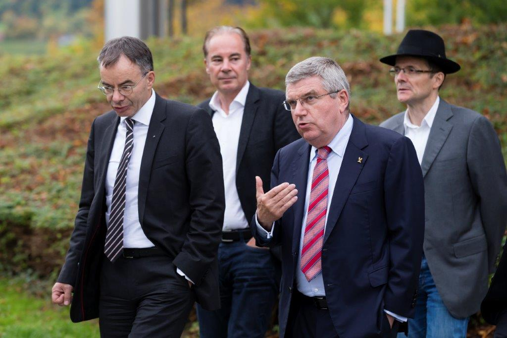 IOC President with the Rector of the University of St Gallen