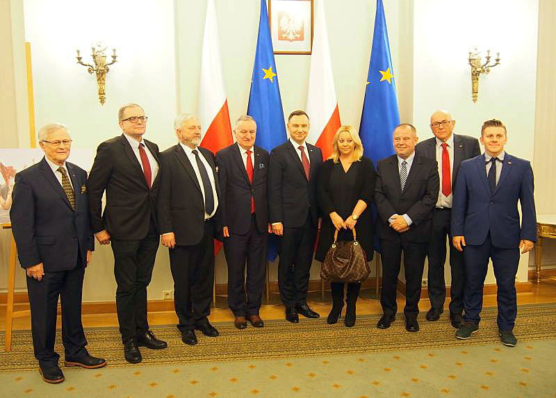 Polish President receives AZS board and other athorities