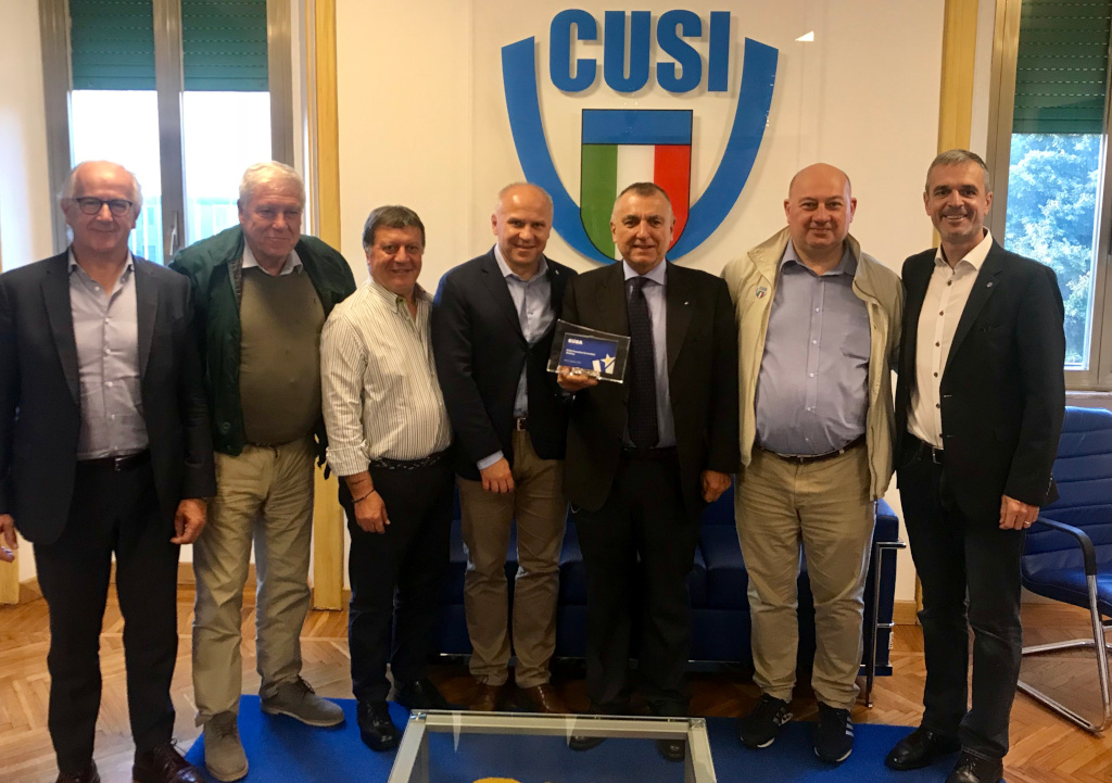 EUSA President and Secretary General visited CUSI headquarters in Rome
