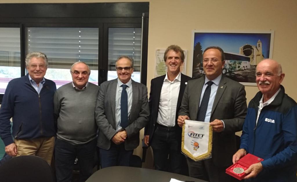 Reception with the Major of Camerino Mr Gianluca Pasqui