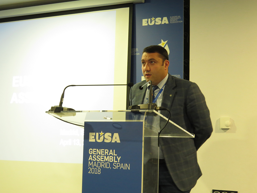 Invitation to the EUSA General Assembly 2020 by Mr Hovhannes Gabrielyan
