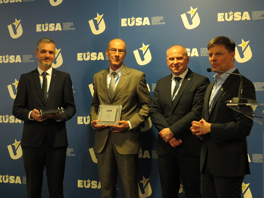 Mr Leonz Eder and Mr Olaf Tabor - new EUSA Honorary members