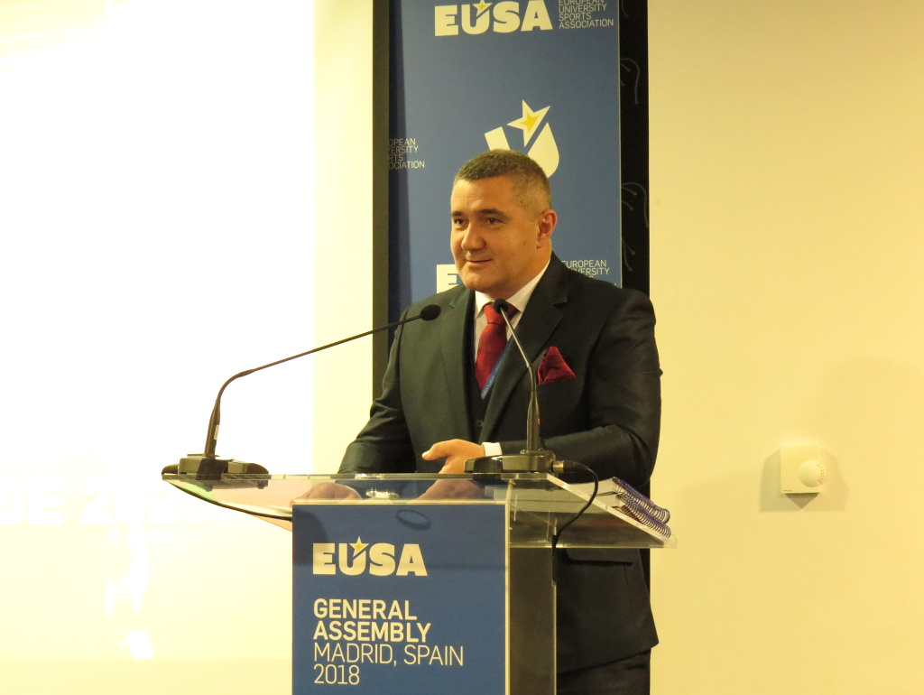 Presentation of the European Universities Games Belgrade 2020