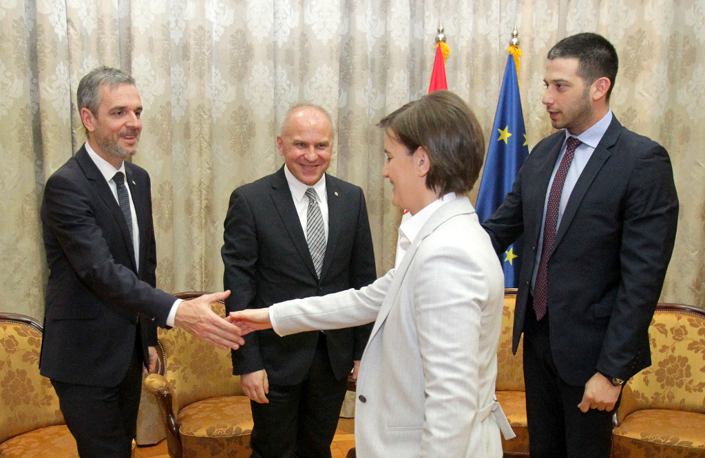 EUSA President and Secretary General meeting Serbian Prime Minister and Minister for Sport