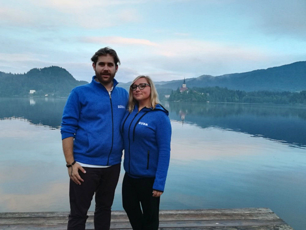 Nenad and Marianna at the EVS training in Bled