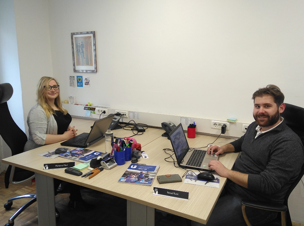 Marianna and Nenad at the Office