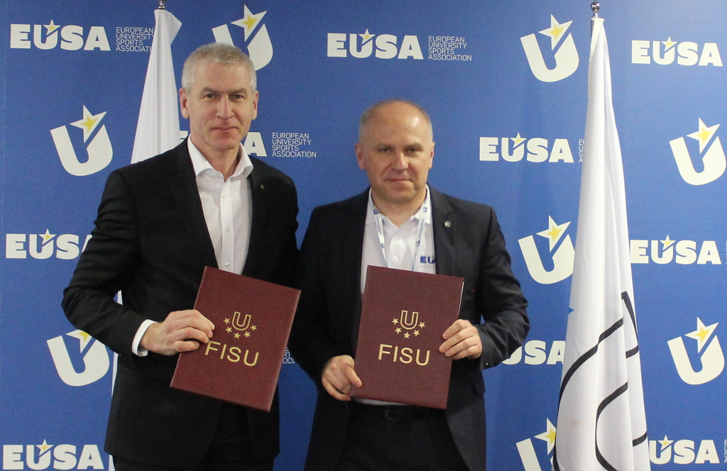 Cooperation between FISU and EUSA was reinforced by signing a Memorandum of understanding