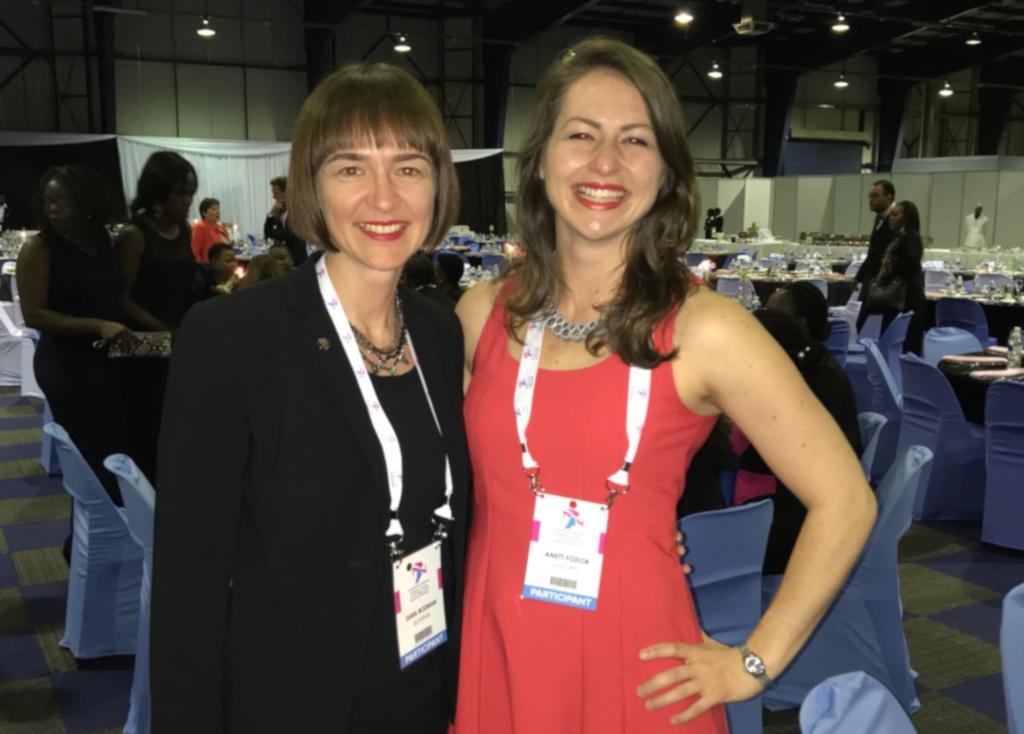 EUSA representatives Ms Sara Rozman and Ms Anett Fodor