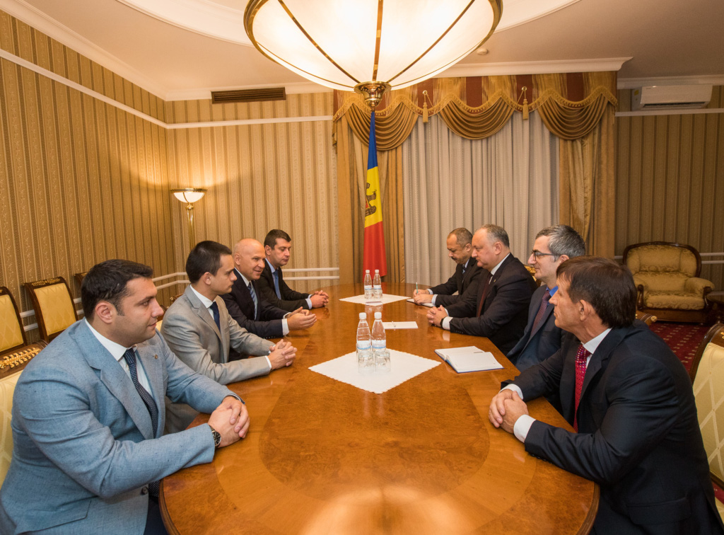 Discussion with the President of the Republic of Moldova