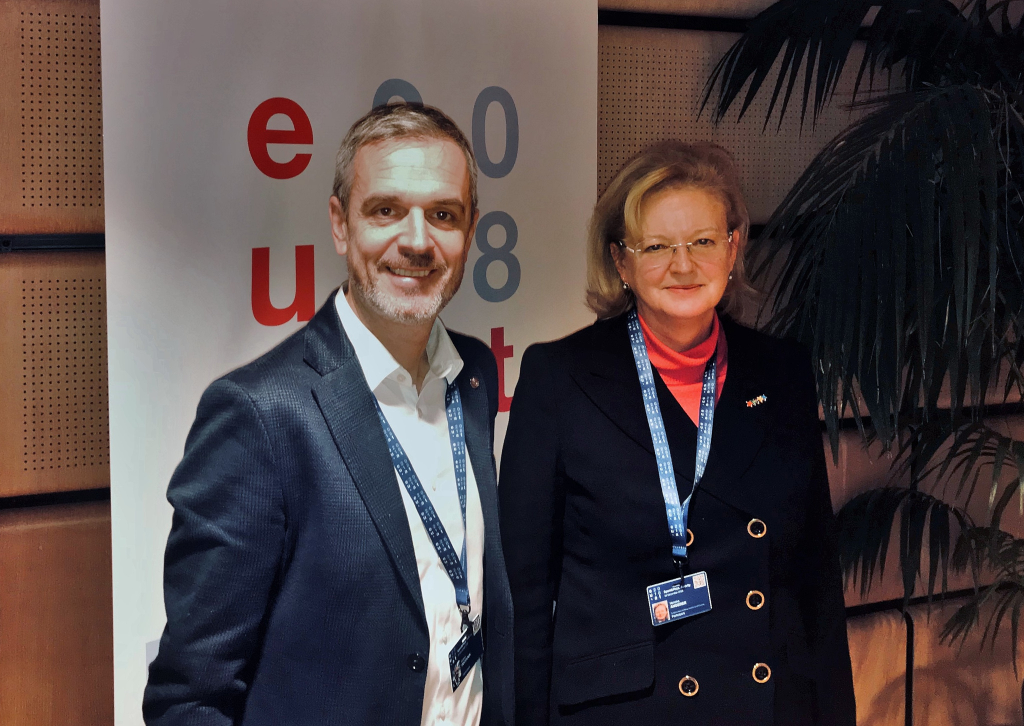 EUSA Secretary General Mr Pecovnik and Unisport Austria President Ms Angerer