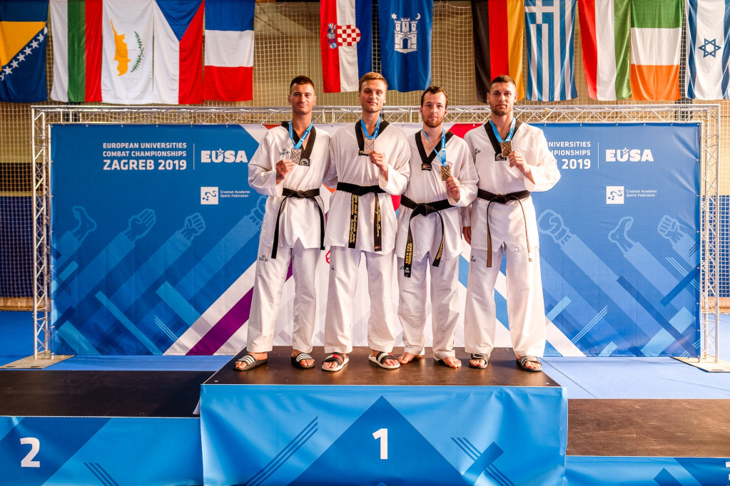 Medallists at EUC Combat 2019