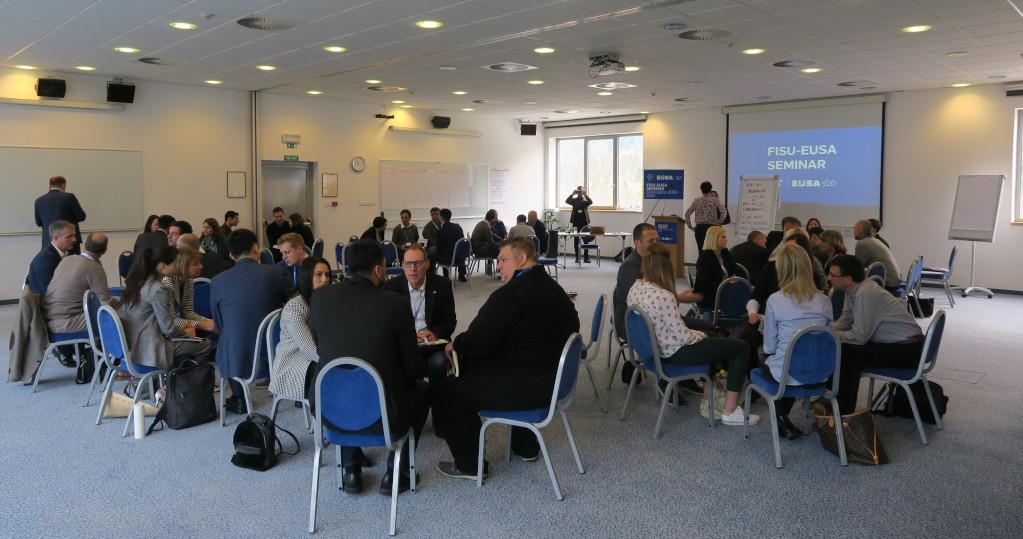 Group discussions at FISU-EUSA Seminar 2019