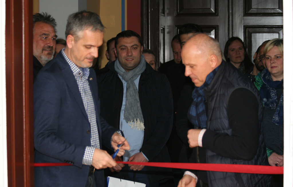 Opening of the new EUSA office by Mr Roczek and Mr Pecovnik
