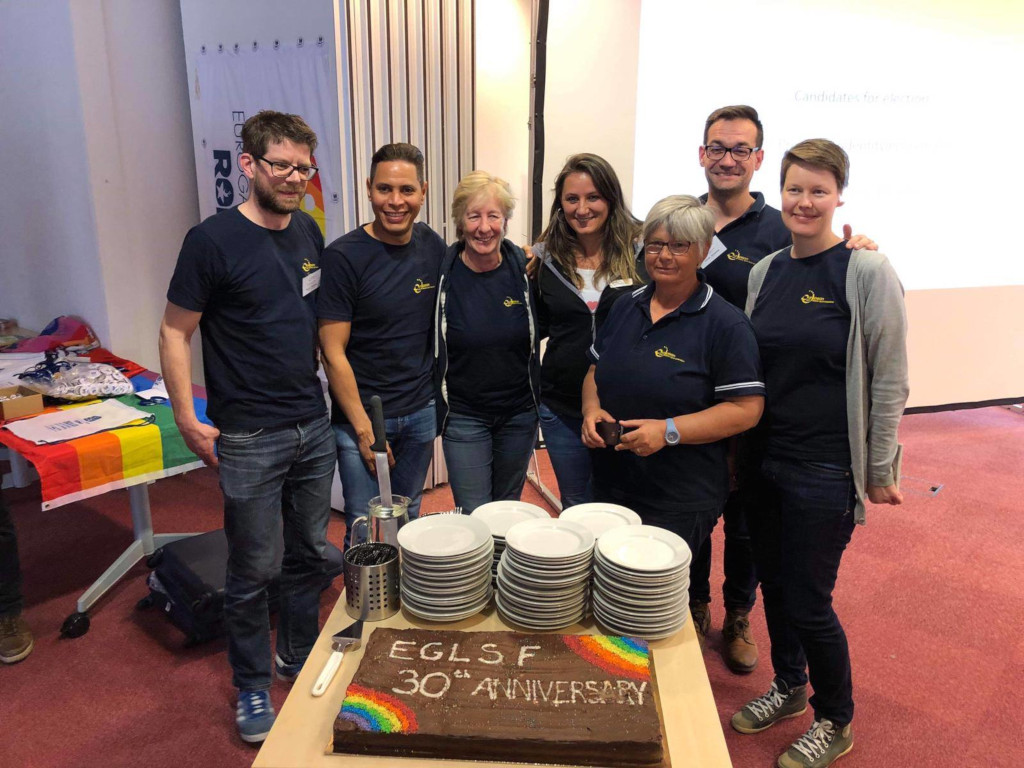 EGLSF board with the anniversary cake