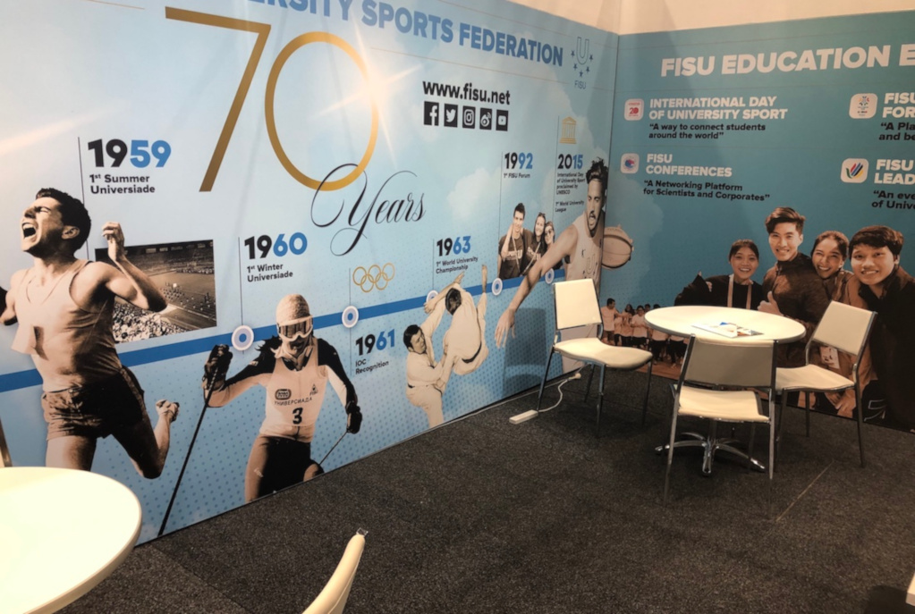 FISU Booth at Sport Accord 2019